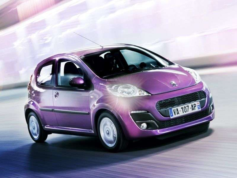 Peugeot 107 1st generation [2nd restyling] 5 dv hatchback 1.0 MT Active (2013) (2012 – present)