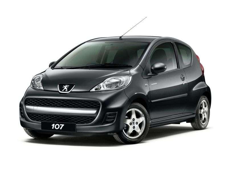 Peugeot 107 1st generation [restyling] 3 bit hatchback 1.0 MT Active (2008–2012)