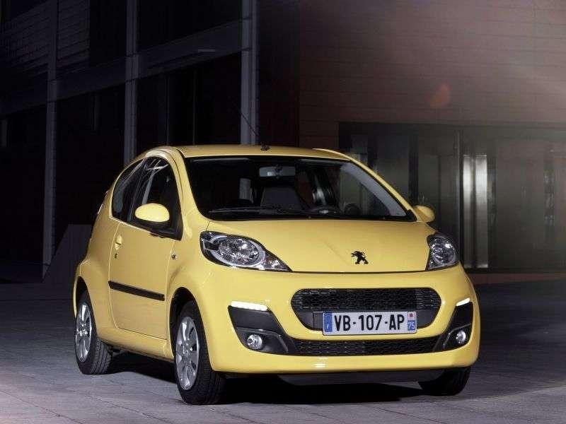 Peugeot 107 1st generation [2nd restyling] 3 bit hatchback 1.0 2 tronic Active (2013) (2012 – present)
