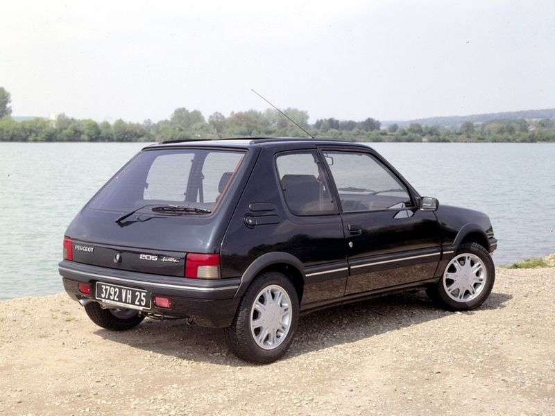 Peugeot 205 1st generation [restyling] 1.1 MT hatchback (1987–1990)
