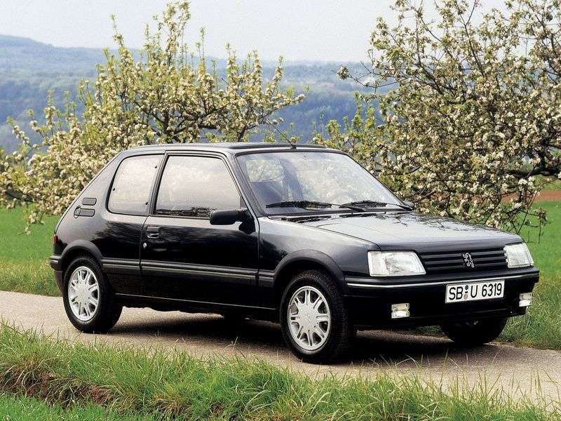 Peugeot 205 1st generation [restyled] hatchback 1.0 MT (1987–1992)