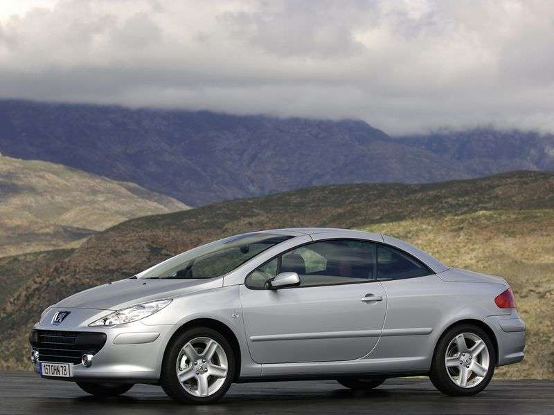 Peugeot 307 1st generation [restyling] 1.6 MT convertible (2005–2008)