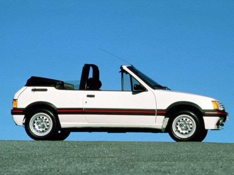 Peugeot 205 1st generation 1.6 MT convertible (1986–1994)