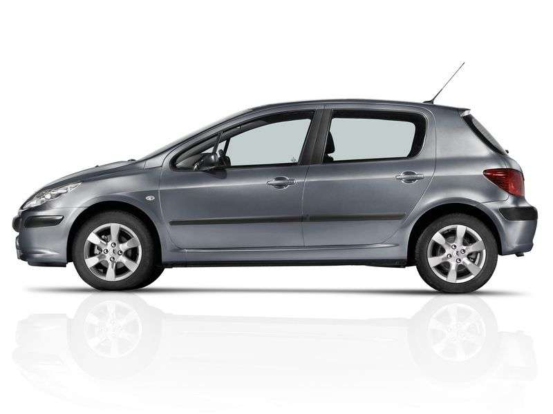 Peugeot 307 1st generation [restyling] 5 bit hatchback 1.6 MT (2005–2007)