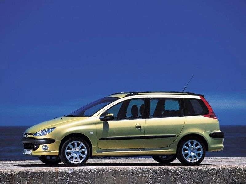Peugeot 206 1st generation wagon 2.0 MT TD (2002–2005)