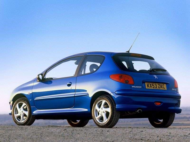 Peugeot 206 1st generation hatchback 3 dv. 1.4 AT (1998–2002)