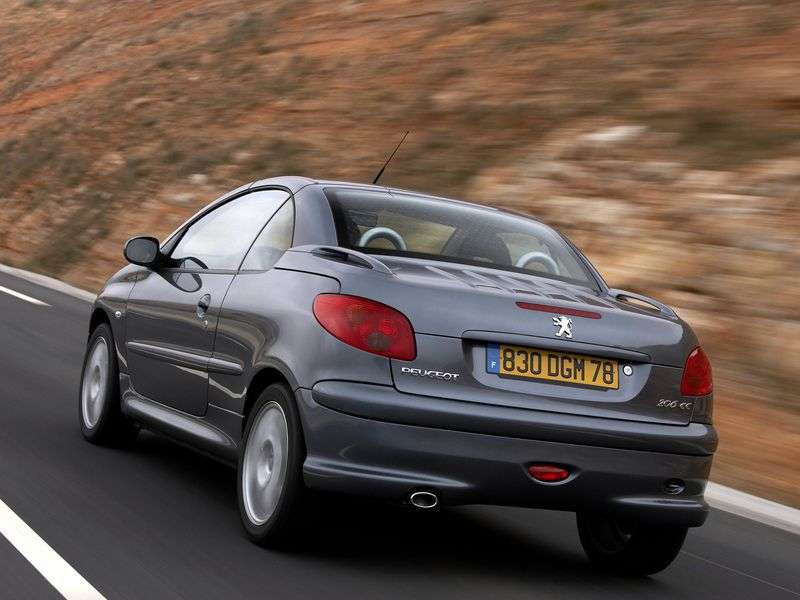 Peugeot 206 1st generation 1.6 AT Convertible (2001–2007)