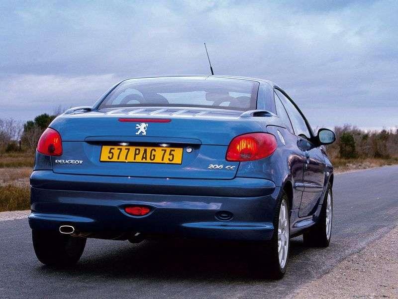 Peugeot 206 1st generation 2.0 MT convertible (2001–2007)