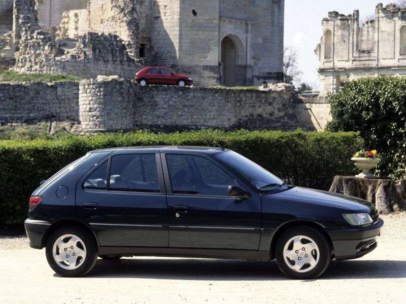 Peugeot 306 1st generation hatchback 5 bit. 1.9 D MT (1994 – n. In.)