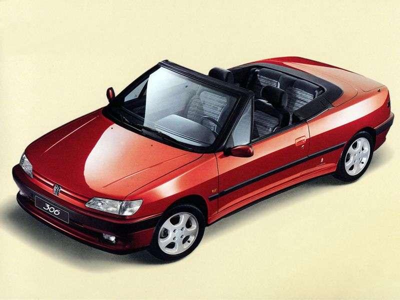 Peugeot 306 1st generation 1.6 MT convertible (2000–2003)