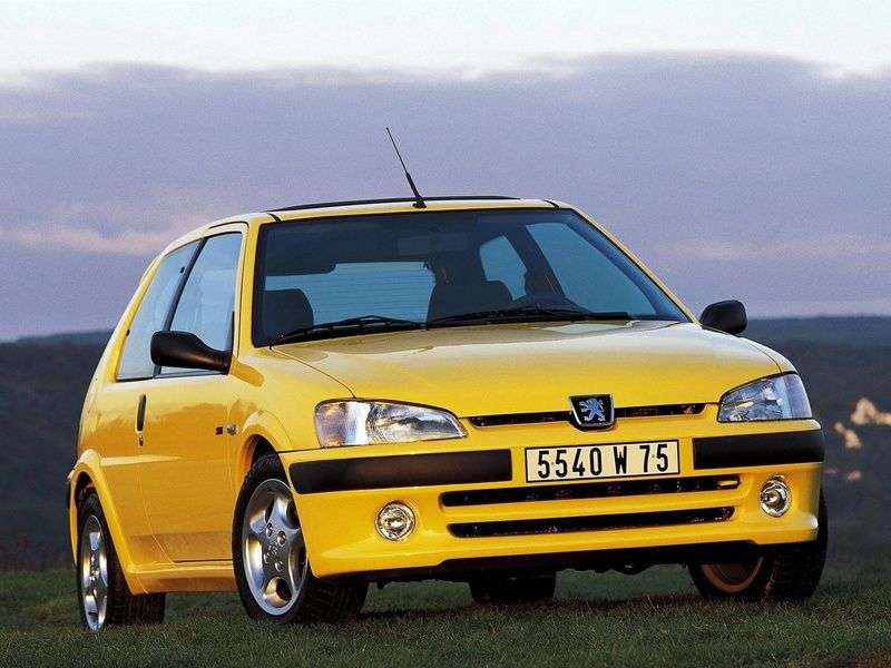 Peugeot 106 1st generation [restyling] 3 bit hatchback 1.4 AT (1996–2003)