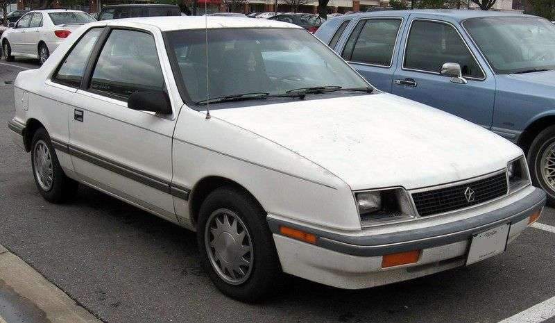 Plymouth Sundance 1st generation coupe 2.2i Mt (1986–1992)