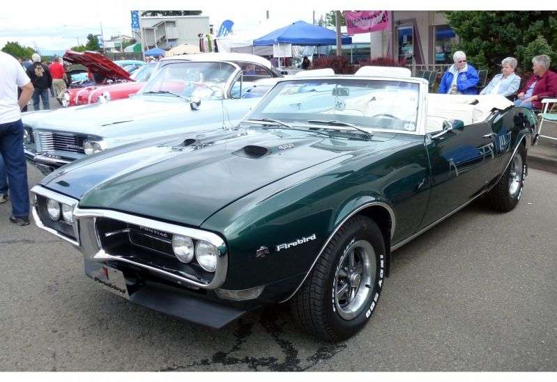 Pontiac Firebird 1st generation [restyling] 6.6 Heavy Duty 4MT convertible (1968–1968)