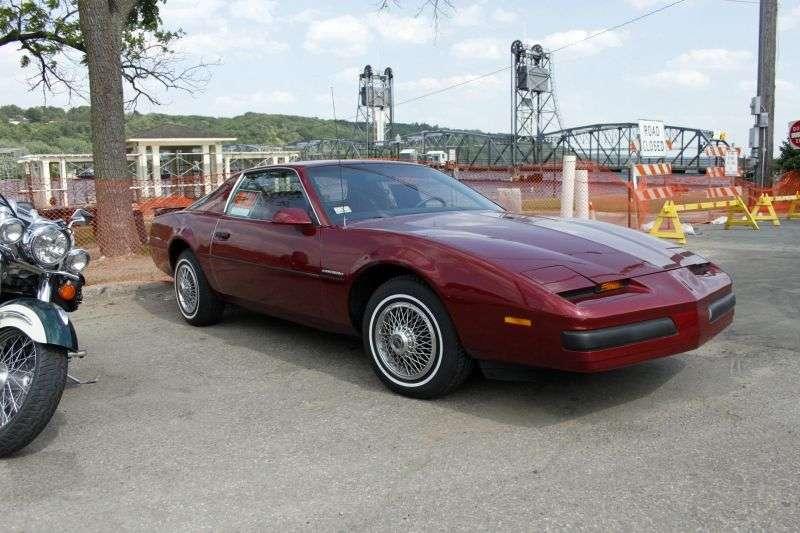 Pontiac Firebird 3. generacja [zmiana stylizacji] coupe 2 drzwi. 2,5 mln ton (1985 1986)