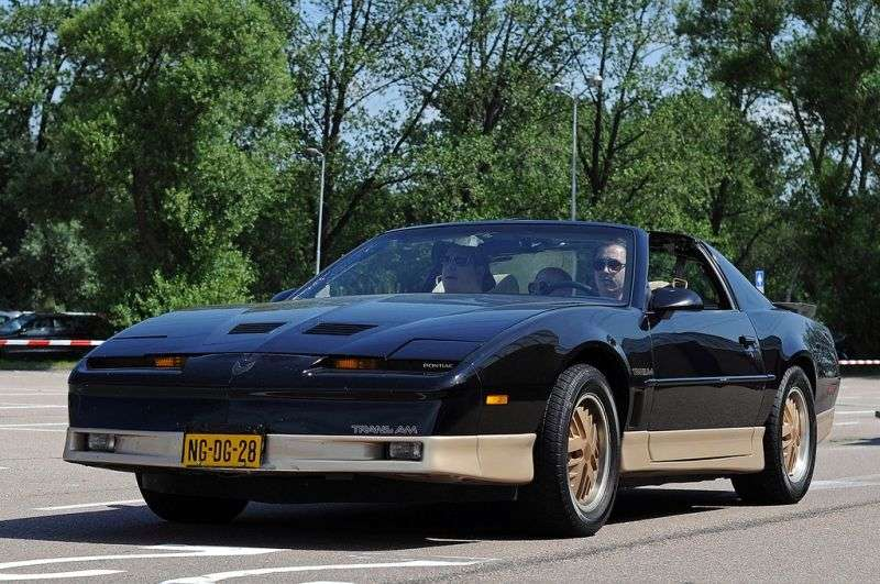 Pontiac Firebird 3rd generation [restyling] Trans Am T Roof targa 2 bit. 3.8 Turbo AT (1989–1990)