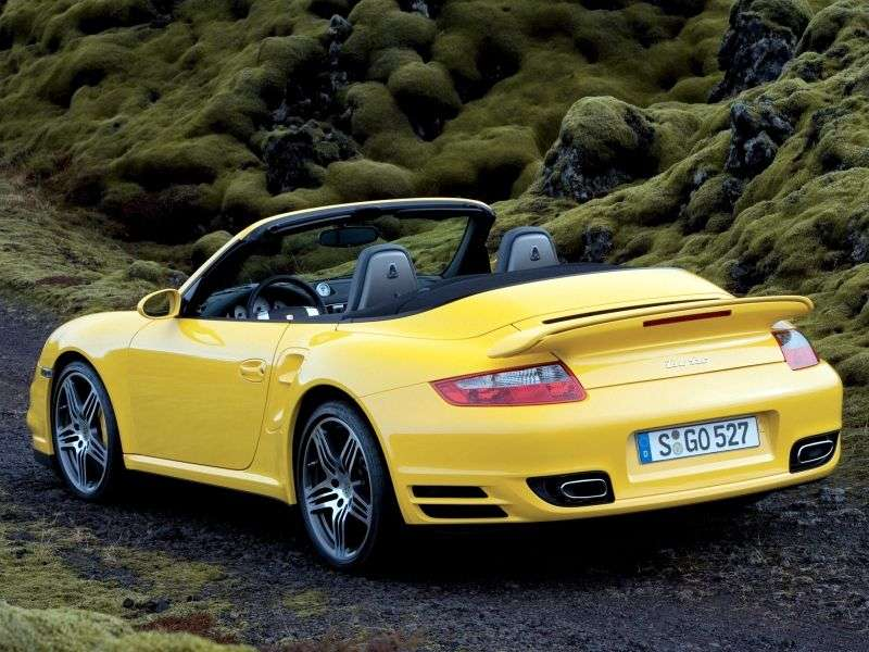 Porsche 911 997Turbo 2 in cabriolet 3.6 T MT (2007–2009)