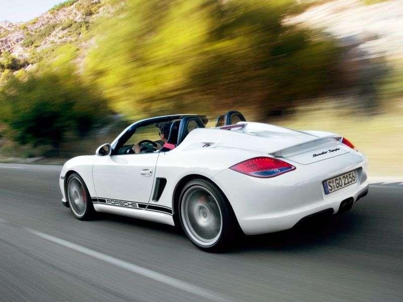 Porsche Boxster 987 [restyling] Spyder roadster 2 dv. 3.4 MT (2009–2010)
