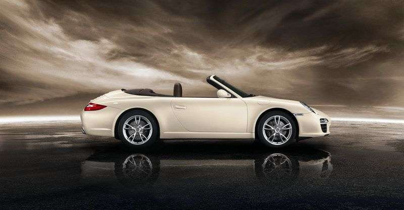 Porsche 911 997 [restyling] Carrera 2 dv convertible 4 3.6 MT AWD (2008–2013)