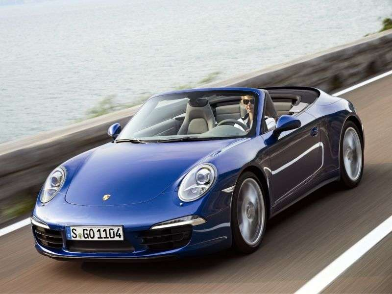Porsche 911 991Carrera 3.4 MT Basic Convertible (2012 – current century)