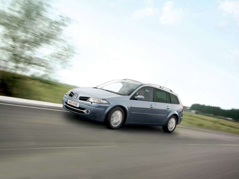 Renault Megane 2nd generation [restyled] wagon 1.6 AT (2006–2009)