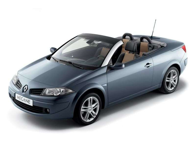 Renault Megane 2nd generation [restyling] 2.0 MT convertible (2006–2009)