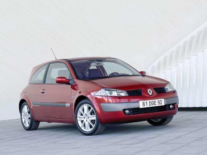 Renault Megane 2 generation hatchback 3 dv. 2.0 MT (2002–2006)