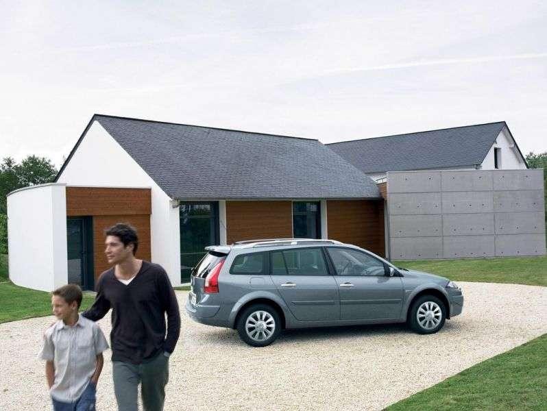 Renault Megane 2nd generation [restyled] station wagon 2.0 AT (2006–2009)
