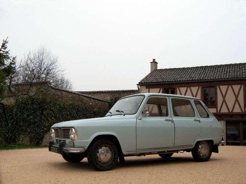 Renault 6 1st generation hatchback 1.1 MT (1969–1974)