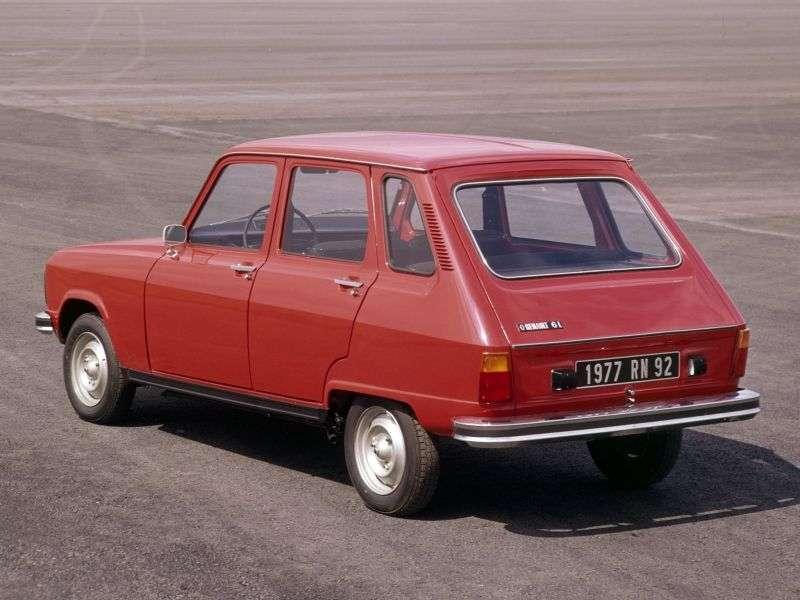Renault 6 1st generation [restyled] hatchback 0.8 MT (1974–1980)