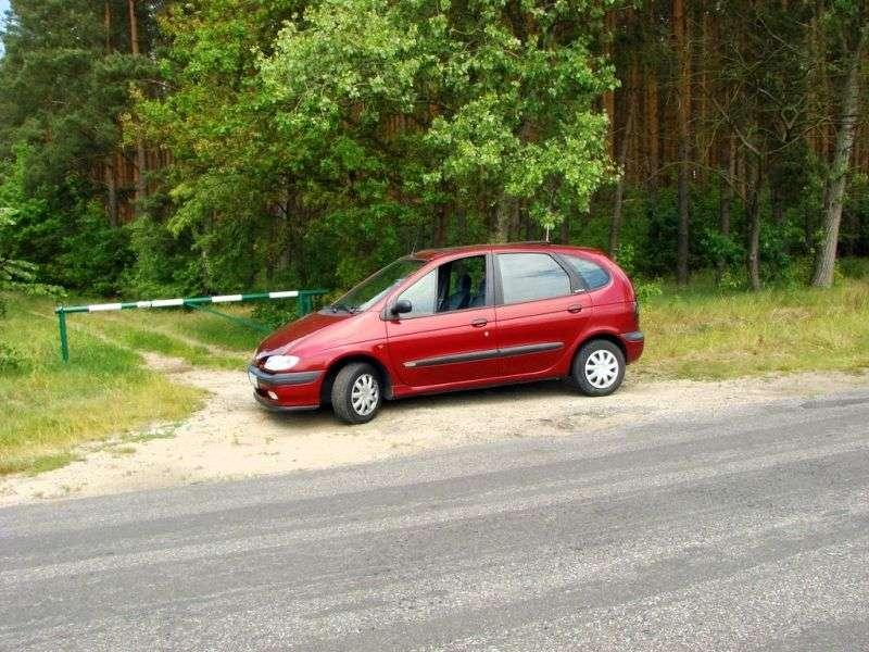 Renault Megane 1st generation Scenic 1.6 MT minivan (1999–1999)