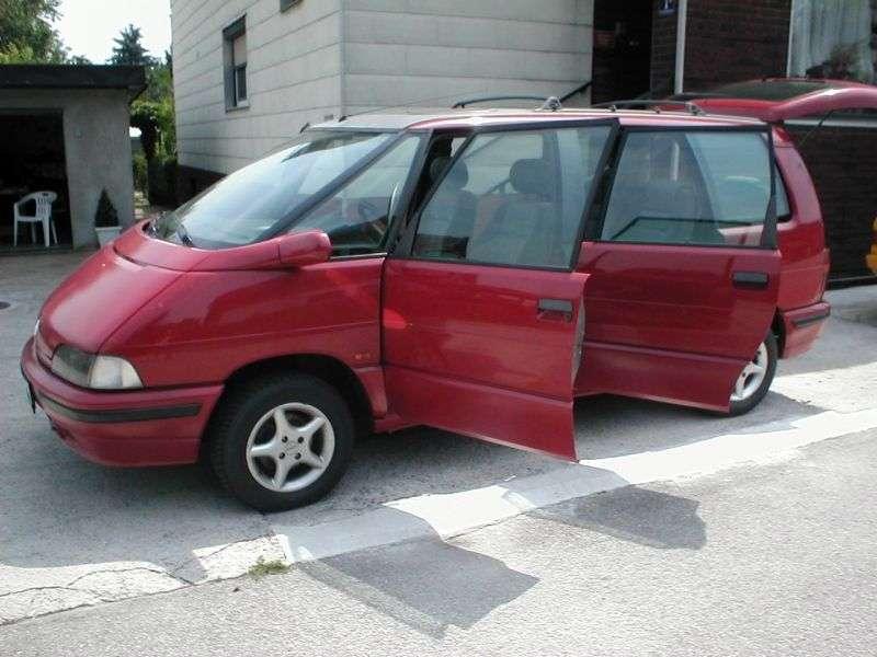 Renault Espace 2nd generation minivan 2.2 MT (1991–1996)