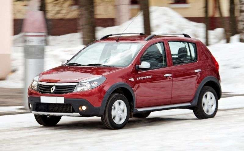 Renault Sandero 1st generation Stepway hatchback 5 bit. 1.6 AT Stepway (2009 – present)