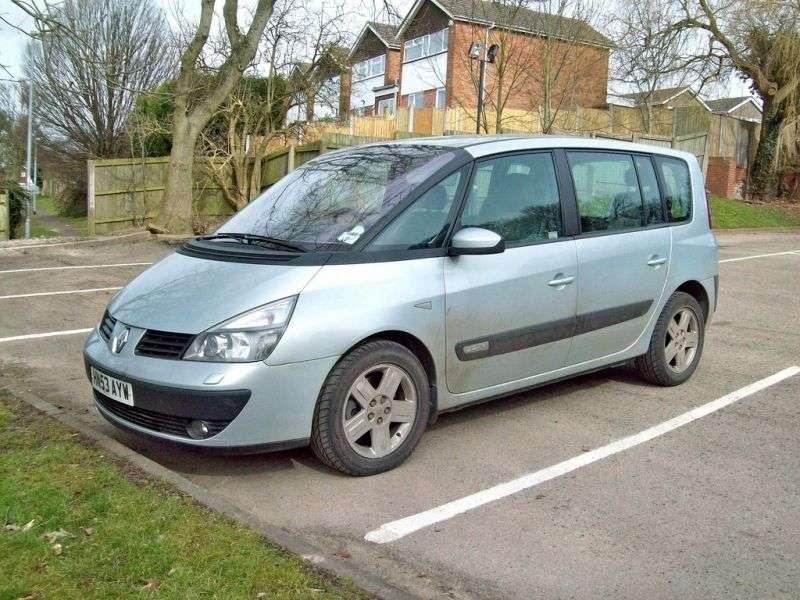 Renault Espace 4 generation minivan 2.0 T MT (2002–2006)