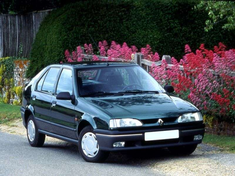 Renault 19 2 generation hatchback 5 dv. 1.7 MT (1992–1996)