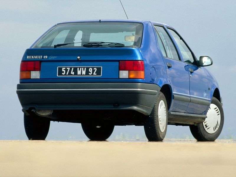 Renault 19 1st generation hatchback 5 dv. 1.8 AT (1991–1992)