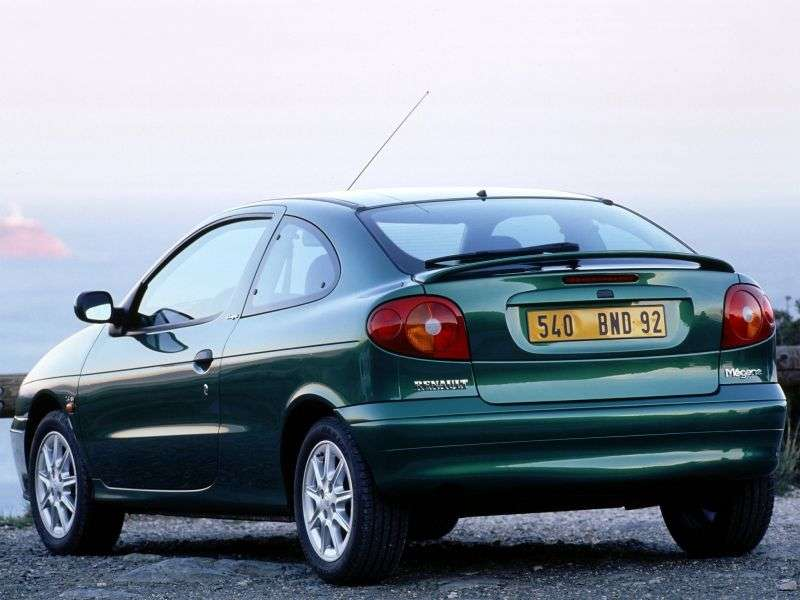 Renault Megane 1st generation [restyled] coupe 1.9 dCi AT (1999–2002)