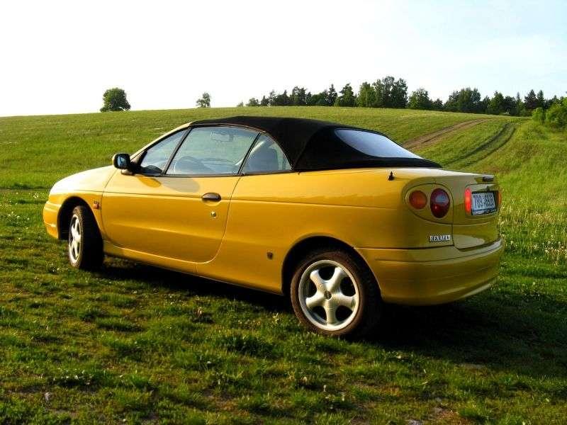 Renault Megane 1st generation 1.6 MT convertible (1997–1999)