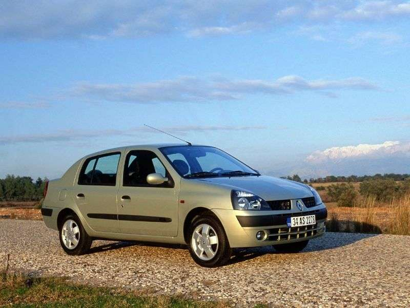 Renault Symbol 1st generation [restyled] 1.6 MT sedan (2002–2005)