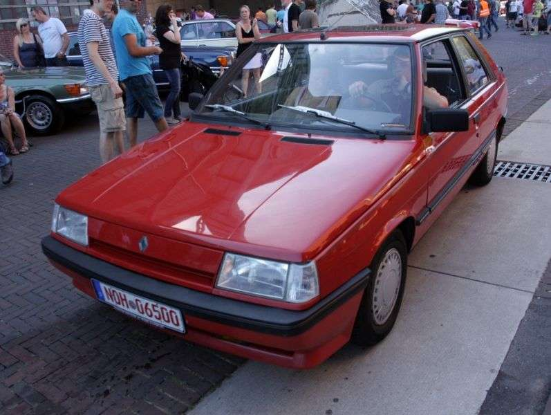 Renault 11 2nd generation hatchback 3 dv. 1.4 T MT (1986–1989)