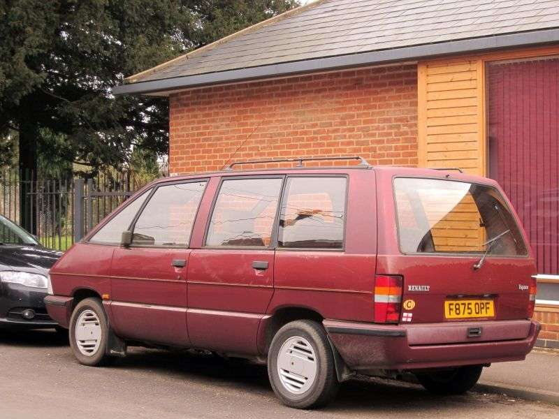 Renault Espace 1st generation [restyled] 2.2 MT minivan (1988–1991)