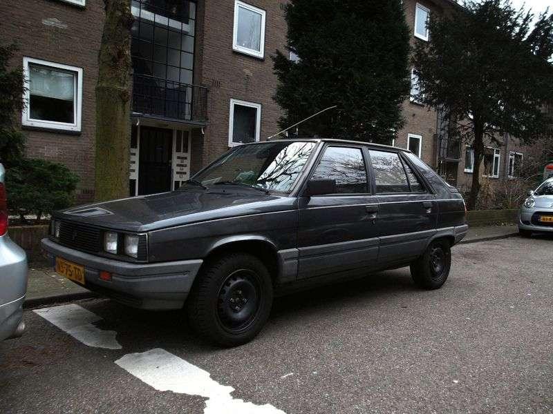 Renault 11 1st generation hatchback 5 dv. 1.4 MT (1983–1986)