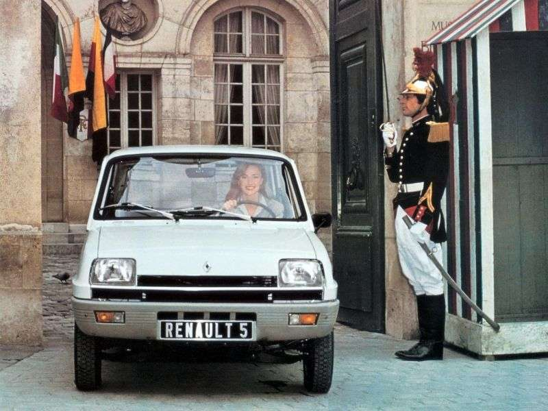 Renault 5 1st generation hatchback 3 dv. 1.3 AT (1980–1981)