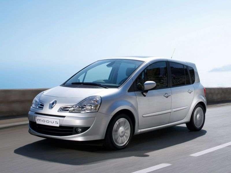 Renault Modus 2nd generation Grand 5 door minivan 1.2 АМТ (2007–2012)