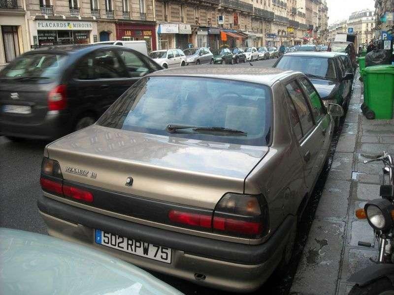 Renault 19 2nd generation Chamade sedan 1.4 MT (1992–1994)