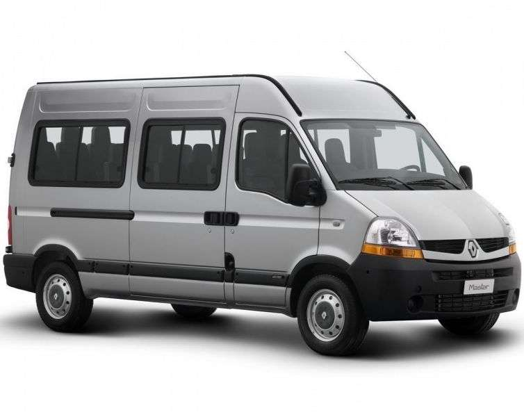 Renault Master 2nd generation [2nd restyling] Minibus 2.5 dCi MT 16 seat L3H2 (2006–2010)