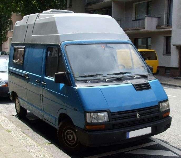 Renault Trafic 1st generation [restyled] 2.5 D van L1H1 MT (1989–1997)