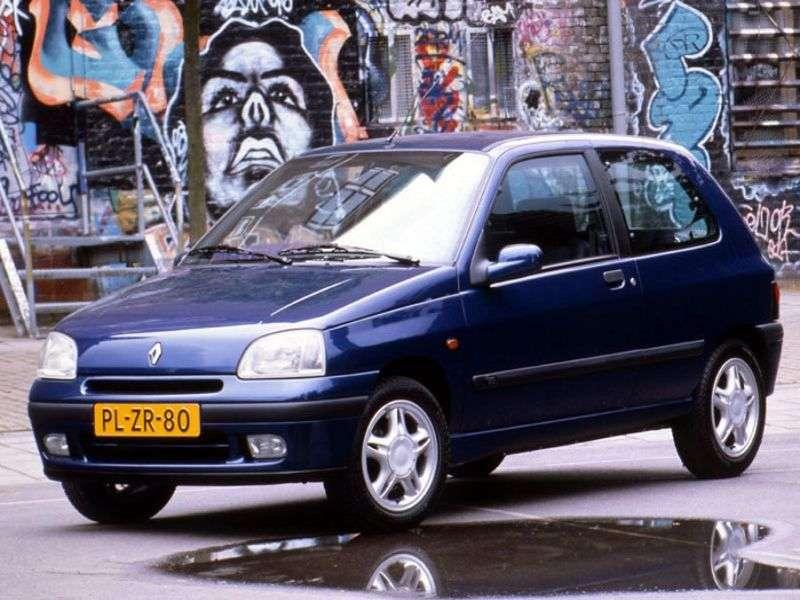 Renault Clio 1st generation [restyling] 3 bit hatchback 1.9 D MT (1996–1998)