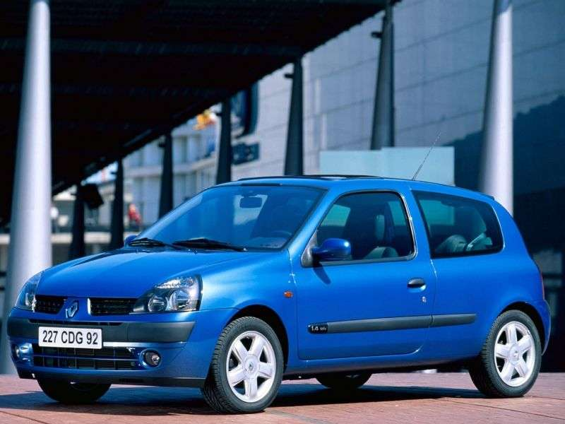 Renault Clio 2nd generation [restyling] 3 bit hatchback 1.9 D MT (2001–2005)