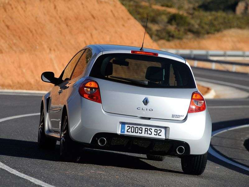 Renault Clio 3 generation [restyling] RS hatchback 3 dv. 2.0 MT Sport (2009–2012)