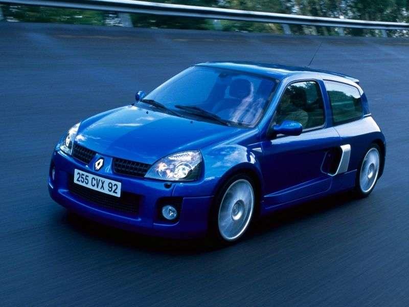 Renault Clio 2 generation [restyling] V6 Sport hatchback 2 dv. 3.0 T MT (2001–2003)